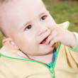 The boy put his hand in his mouth — Stock Photo
