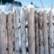 Fence Post Broken Wood Planks — Stock Photo
