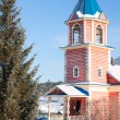 Stock Photo: Small wooden church with bell tower