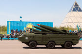 Military parade on the day of the Kazakh army — Foto de Stock