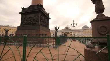 Palace Square in Saint Petersburg — Stock Video
