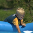 Boy playing — Stock Video