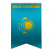 Ribbon banner - kazakhstani flag — Stock Vector #34093915