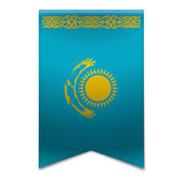 Ribbon banner - kazakhstani flag — Stock Vector