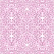 Seamless lace floral pattern on pink background - Stock Vector