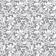 White seamless lace — Vector de stock #13266323