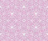 Patrón floral de encaje transparente sobre fondo rosa — Vector de stock