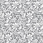 Bílé bezešvé krajky — Stock vektor