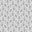 White lace seamless pattern on gray background — Stock Vector #13499785