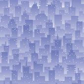 Seamless background evening city landscape. — Stock Vector