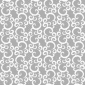 White lace seamless pattern on gray background — Stock Vector