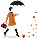 Woman with umbrella — Stock Vector