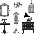 Antique furniture — Vector de stock #13724319