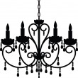 Royalty-Free Stock Vektorfiler: Antique chandelier