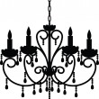 Stock Vector: Antique chandelier