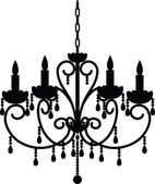 Antique chandelier — Stock Vector