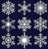 Sneeuwvlokken set — Stockvector