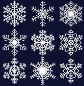 Snowflakes set — Vetorial Stock