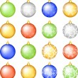 Royalty-Free Stock Vektorgrafik: Christmas baubless set
