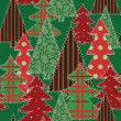 Royalty-Free Stock Vector Image: Christmas tree patchwork fabric