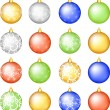 Christmas baubles set. — Vettoriale Stock