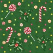 Royalty-Free Stock Vectorafbeeldingen: Candies, lollipops and holly berry