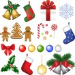Stock Vector: Christmas decoration set.