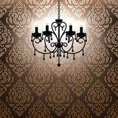 Antique chandelier — Stock Vector