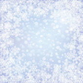 Christmas frozen background with snowflakes — Stock Vector