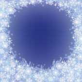 Jul fryst bakgrunden med snöflingor — Stockvektor