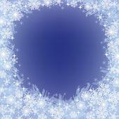 Zmrazené pozadí se sněhové vločky vánoční — Stock vektor