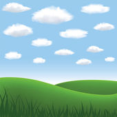 Meadow and hills — Stock Vector