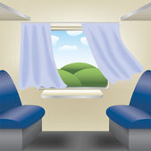 Compartment of train — Stock Vector