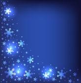 Fundo com flocos de neve brilhantes — Vetorial Stock