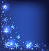与闪亮的雪花背景 — 图库矢量图片