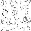 Royalty-Free Stock Vector Image: Silhouette of Cats.