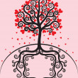 Royalty-Free Stock Vector Image: Tree with leaves shaped heart
