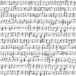 Handwritten musical notes — Vettoriale Stock #16506785