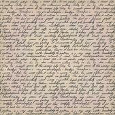 Carta escrita à mão — Vetorial Stock