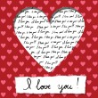 Valentine card with handwritten - Stock Vector