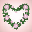 Stock Vector: Wreath of rose