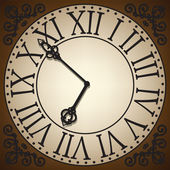 Clock face — Stock Vector