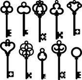 Antique skeleton keys — Stock Vector