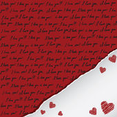 Valentine card with handwritten — Stock Vector