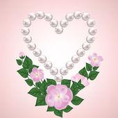 Růže a pearl — Stock vektor