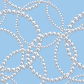 Pearl necklace — Vettoriale Stock