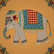 Indian elephant - Stock Vector
