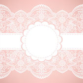 Card with lace — Stock Vector