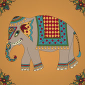 Indian elephant — Stock Vector
