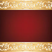 Gold jewelry frame and pearls — Stock Vector